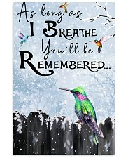 Hummingbird You'll Be Remembered Poster 11x17 Poster front