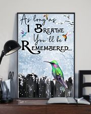Hummingbird You'll Be Remembered Poster 11x17 Poster lifestyle-poster-2
