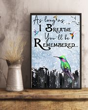 Hummingbird You'll Be Remembered Poster 11x17 Poster lifestyle-poster-3