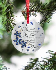 Butterfly My Mind Still Talks To You  Circle ornament - single (porcelain) aos-circle-ornament-single-porcelain-lifestyles-07