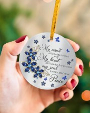 Butterfly My Mind Still Talks To You  Circle ornament - single (porcelain) aos-circle-ornament-single-porcelain-lifestyles-09