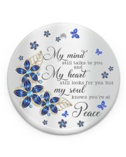 Butterfly My Mind Still Talks To You  Circle ornament - single (porcelain) front