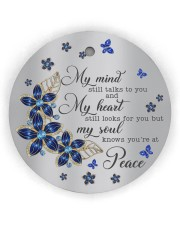 Butterfly My Mind Still Talks To You  Circle Ornament (Wood tile