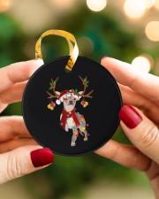 Chihuahua Christmas Circle ornament - single (porcelain) aos-circle-ornament-single-porcelain-lifestyles-08