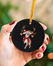 Chihuahua Christmas Circle ornament - single (porcelain) aos-circle-ornament-single-porcelain-lifestyles-09