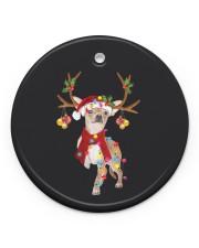Chihuahua Christmas Circle ornament - single (porcelain) front