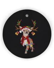 Chihuahua Christmas Circle Ornament (Wood tile