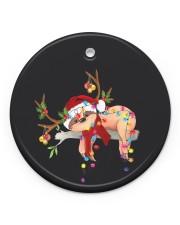 Sloth Christmas Circle ornament - single (porcelain) front