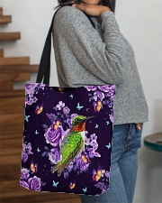 Hummingbird Purple All-over Tote aos-all-over-tote-lifestyle-front-09