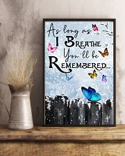 Butterfly You'll Be Remembered Poster 11x17 Poster lifestyle-poster-3