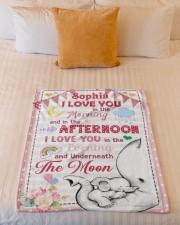 "I Love You Small Fleece Blanket - 30"" x 40"" aos-coral-fleece-blanket-30x40-lifestyle-front-04a"