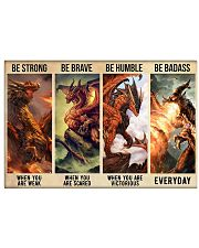Dragon Be Strong Poster 17x11 Poster front