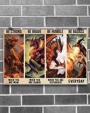 Dragon Be Strong Poster 17x11 Poster poster-landscape-17x11-lifestyle-18