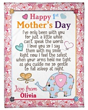 """Happy First Mother's Day Small Fleece Blanket - 30"""" x 40"""" front"""