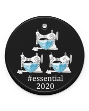 Quilting Essential Circle ornament - single (porcelain) front