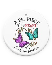 Butterfly A Big Piece Of My Heart Lives In Heaven Circle ornament - single (porcelain) front