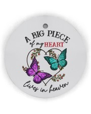 Butterfly A Big Piece Of My Heart Lives In Heaven Circle Ornament (Wood tile