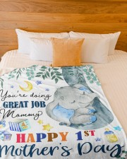 """You're Doing A Great Job Mommy  Large Fleece Blanket - 60"""" x 80"""" aos-coral-fleece-blanket-60x80-lifestyle-front-02a"""