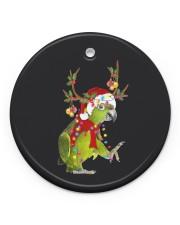 Parrot Christmas Circle ornament - single (porcelain) front