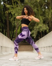 Butterfly Purple High Waist Leggings aos-high-waist-leggings-lifestyle-12
