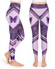 Butterfly Purple High Waist Leggings front