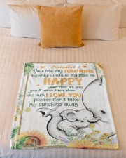 """You Are My Sunshine  Small Fleece Blanket - 30"""" x 40"""" aos-coral-fleece-blanket-30x40-lifestyle-front-04a"""