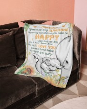 """You Are My Sunshine  Small Fleece Blanket - 30"""" x 40"""" aos-coral-fleece-blanket-30x40-lifestyle-front-05a"""
