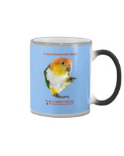 Coffee with my Caique  Color Changing Mug color-changing-right