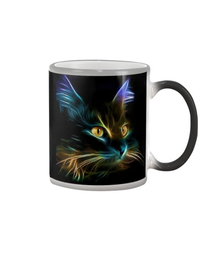 Cat Lover - Fractal Cat Coffee Mug 2017