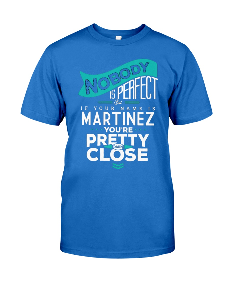 MARTINEZ NOBODY IS PERFECT Premium Fit Mens Tee
