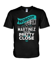 MARTINEZ NOBODY IS PERFECT V-Neck T-Shirt thumbnail