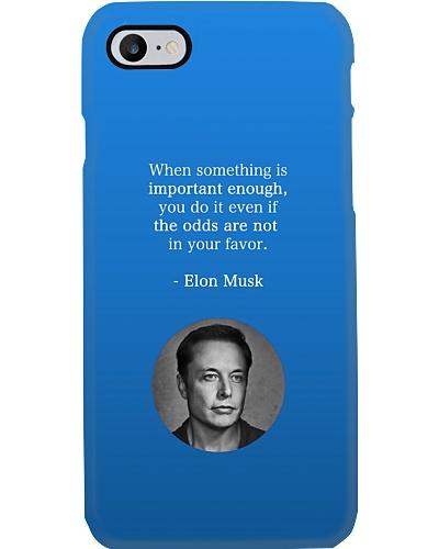 Elon Musk phone case by Philosopher
