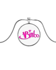 Bimbo Jewelry Metallic Circle Necklace front