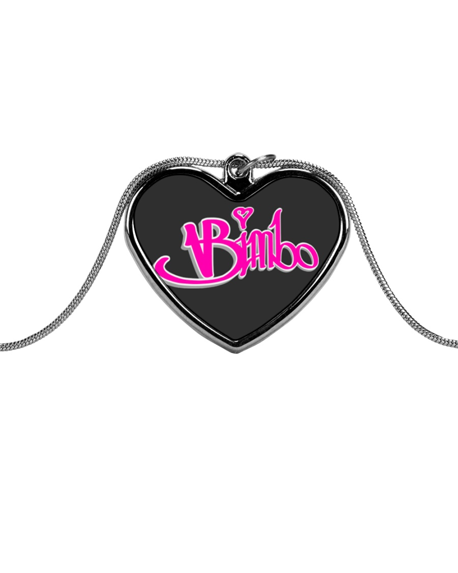 Bimbo Jewelry Metallic Heart Necklace