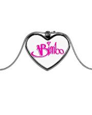 Bimbo Jewelry Metallic Heart Necklace front