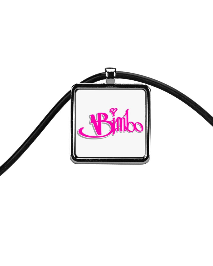 Bimbo Jewelry Cord Rectangle Necklace
