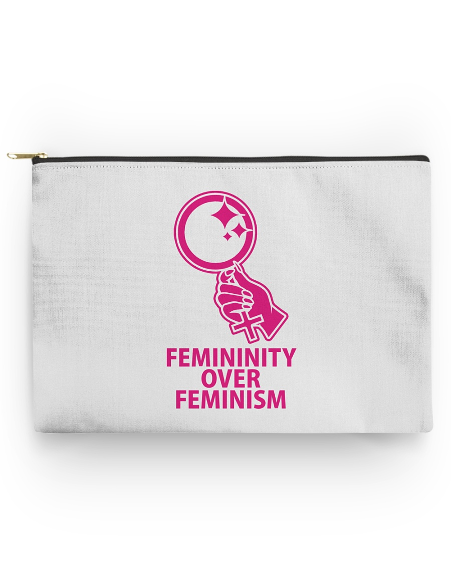Femininity Over Feminism Accessory Pouch - Large