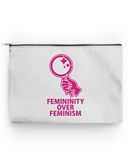 Femininity Over Feminism Accessory Pouch - Large thumbnail