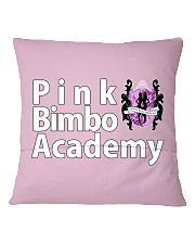 Pink Bimbo Academy Pillow Square Pillowcase back