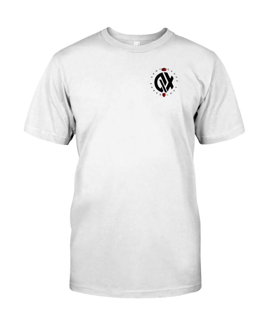 QX - Clothes and Accessories - Black logo Premium Fit Mens Tee