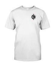 QX - Clothes and Accessories - Black logo Premium Fit Mens Tee front