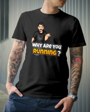Why are you running - Design on 15 Products  Premium Fit Mens Tee lifestyle-mens-crewneck-front-6