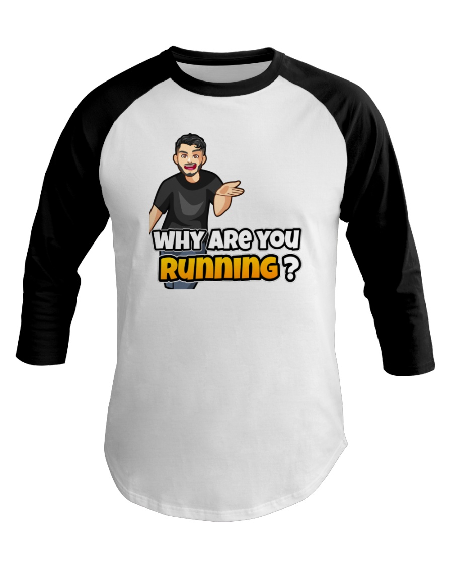 Why are you running - Design on 15 Products  Baseball Tee