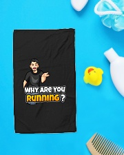 Why are you running - Design on 15 Products  Hand Towel aos-towelhands-front-lifestyle-6