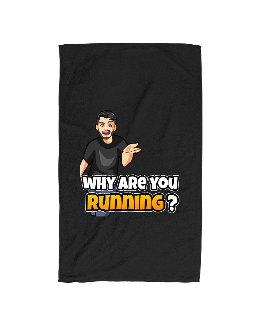 Why are you running - Design on 15 Products  Hand Towel
