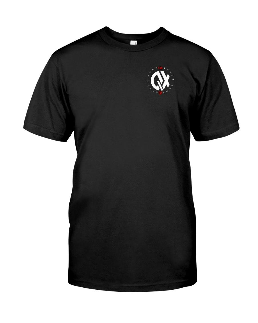 QX - Clothes and Accessories - White logo Premium Fit Mens Tee
