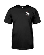 QX - Clothes and Accessories - White logo Premium Fit Mens Tee front