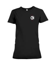 QX - Clothes and Accessories - White logo Premium Fit Ladies Tee thumbnail