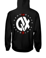 QX - Clothes and Accessories - White logo Hooded Sweatshirt back