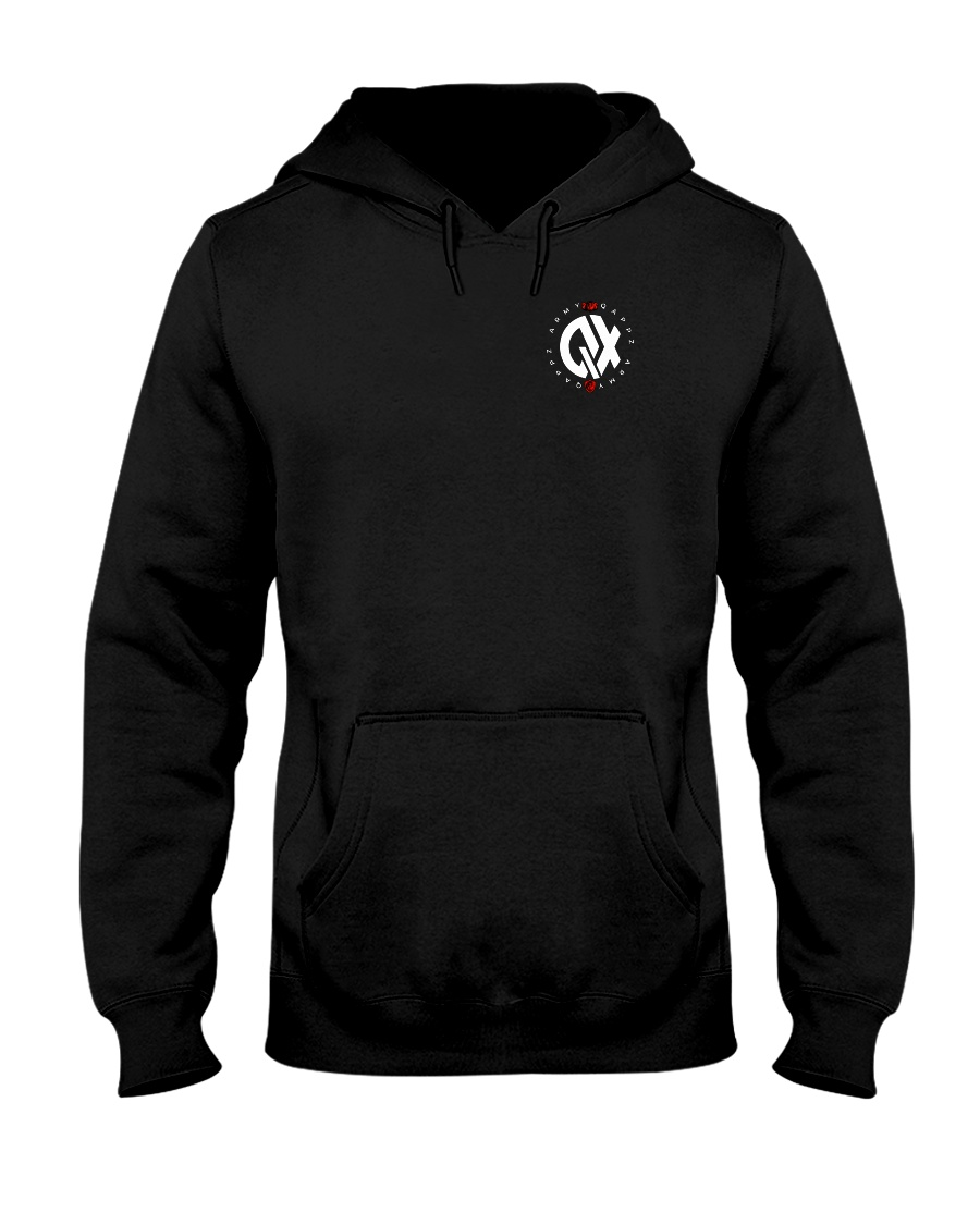 QX - Clothes and Accessories - White logo Hooded Sweatshirt